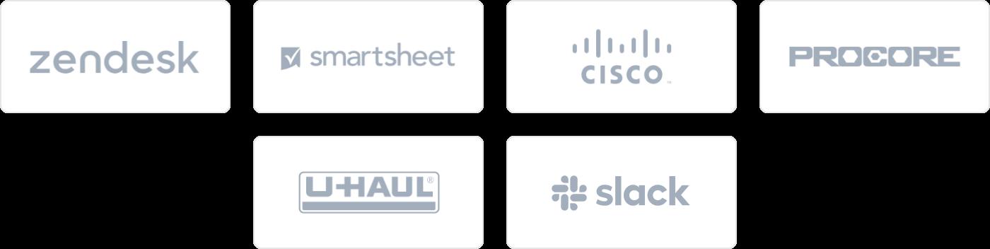 demo social proof logos tablet